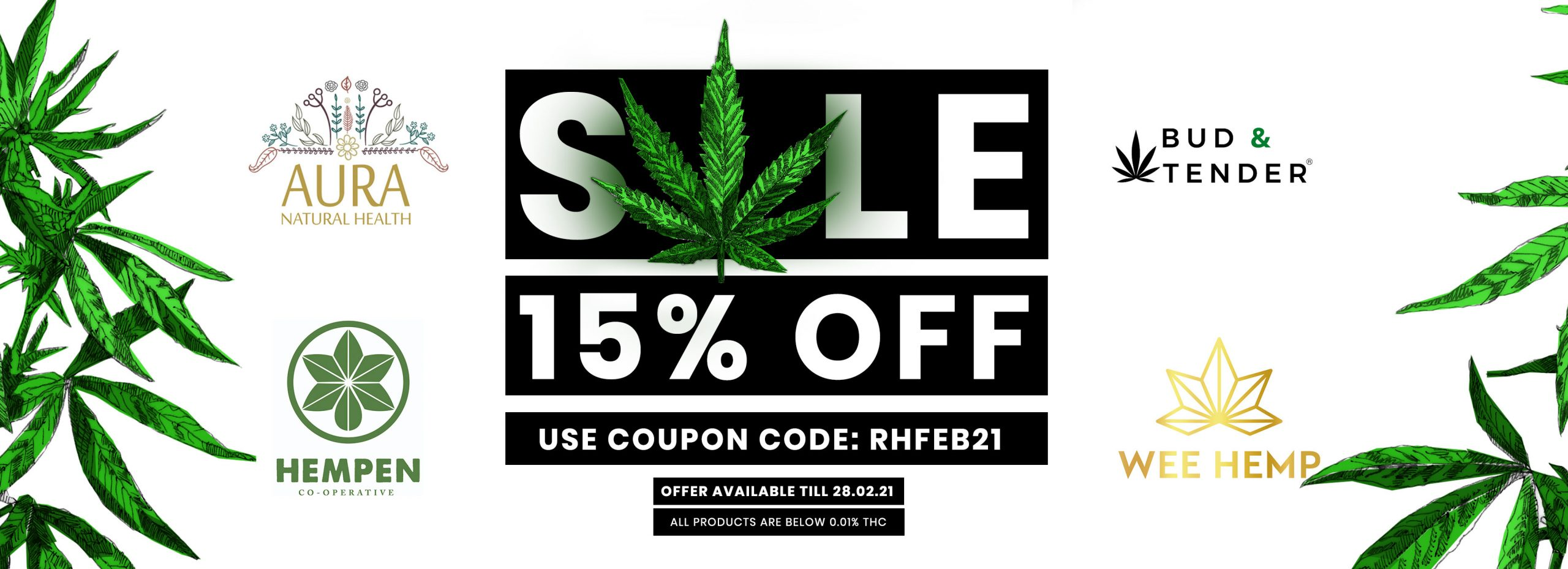 15% Off Sale Use Coupon Code RHFEB21